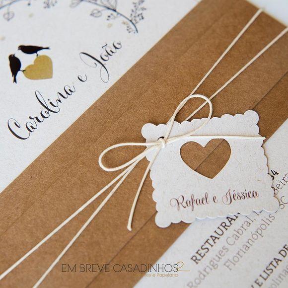 Convite de Casamento - Formar um ninho, Convite de Casamento Rústico, convites…