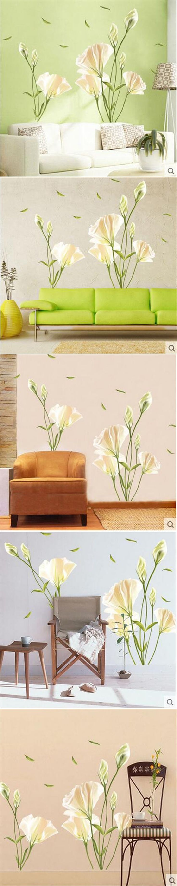 25 best ideas about flower wall stickers on pinterest for Appliqu mural autocollant