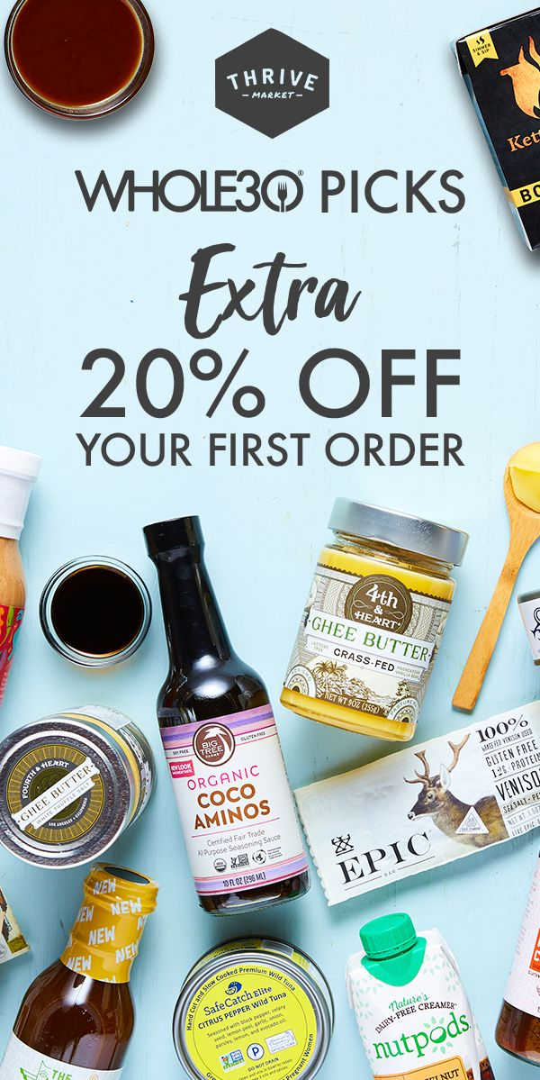 Make your Whole30 diet affordable and convenient with Thrive Market. Shop the brands you love with fast, free shipping and an extra 20% off your first 3 orders. Learn more today.