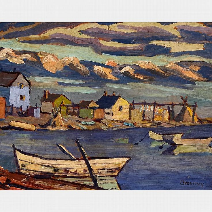 Frederick Banting - Fort Resolution 8.5 x 10.5 Oil on panel