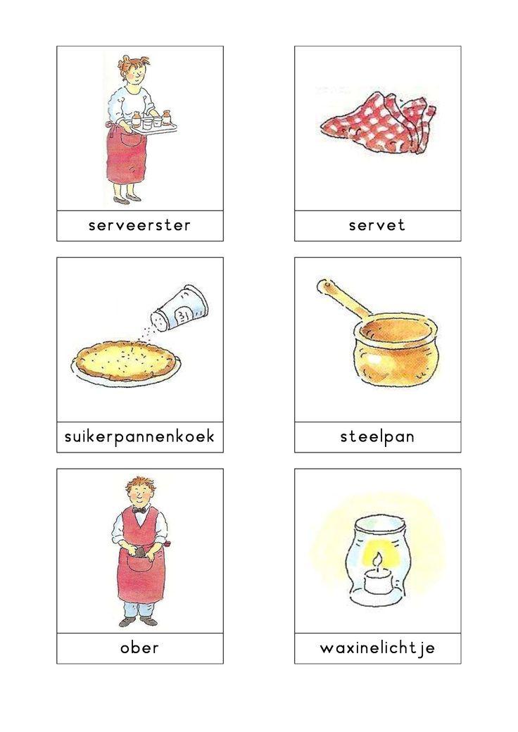 Woordkaarten Bas 'Het pannenkoekenrestaurant' 2