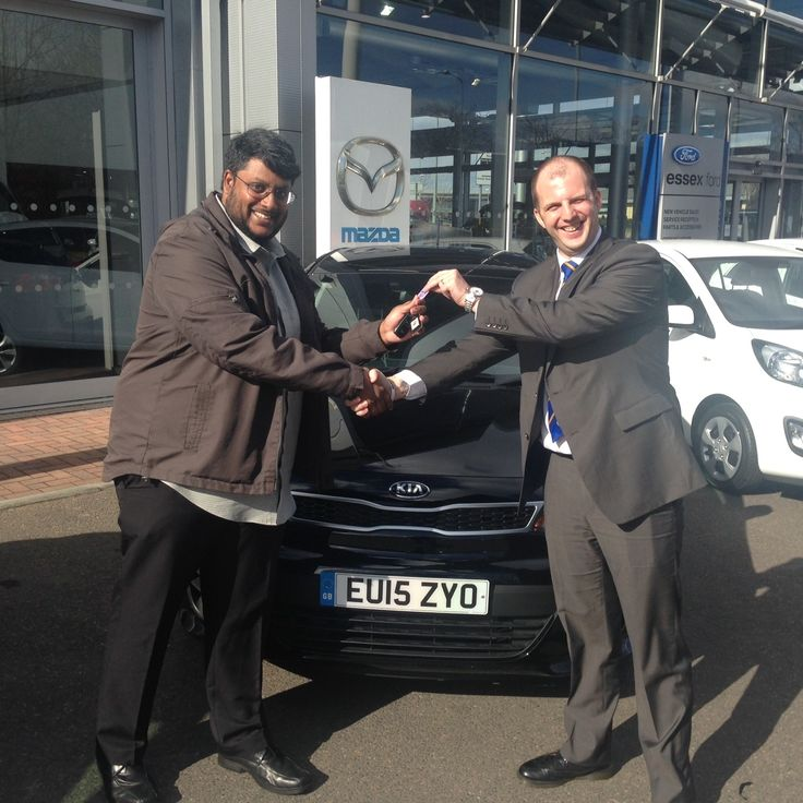 It was all smiles as Siva Dharmalingam got the keys to his new #15Plate Kia Rio at our Lakeside dealership.