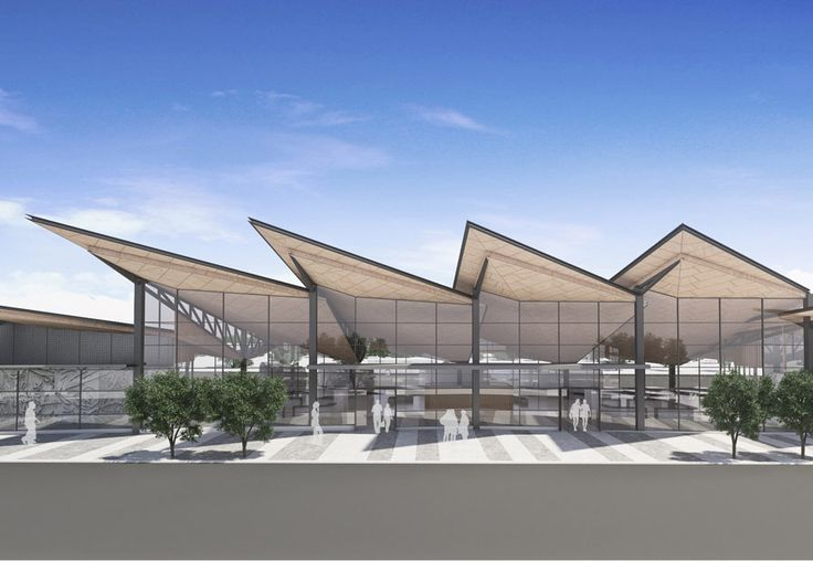 Image of external facade of the Manukau bus station