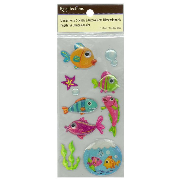 Purchase the Dimensional Fish Stickers by Recollections™at Michaels.com. Embellish invites and favor bags for your tiny tot's water-themed party using the Dimensional Stickers by Recollections™.