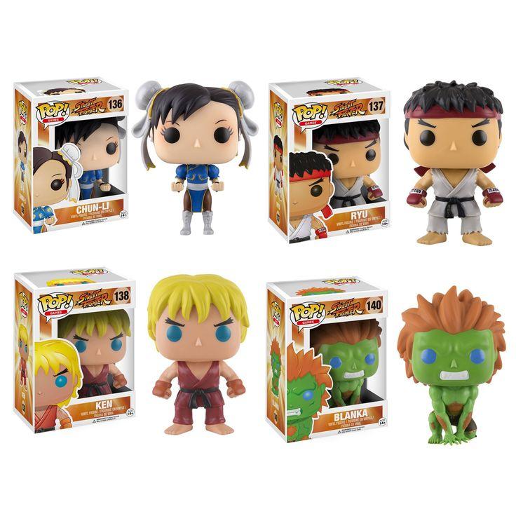 Funko Games POP! Chun-Li, Ryu, Ken, and Blanka Street Fighter Collectors Set
