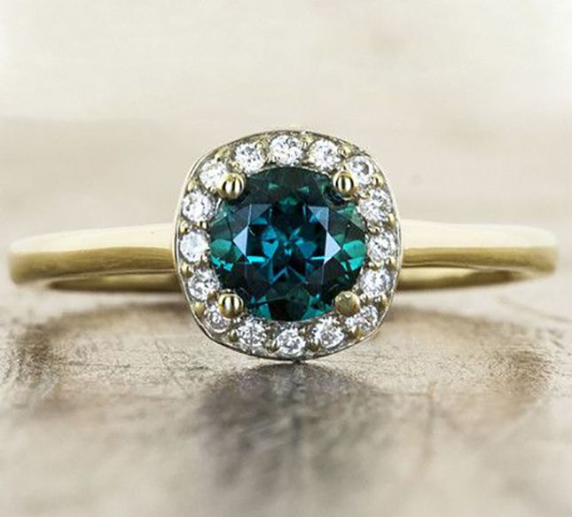 23 Colorful Engagement Rings for the Non-Traditional Bride via Brit + Co.