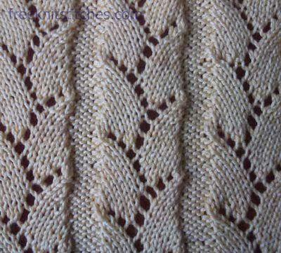 Sprig knitting stitches