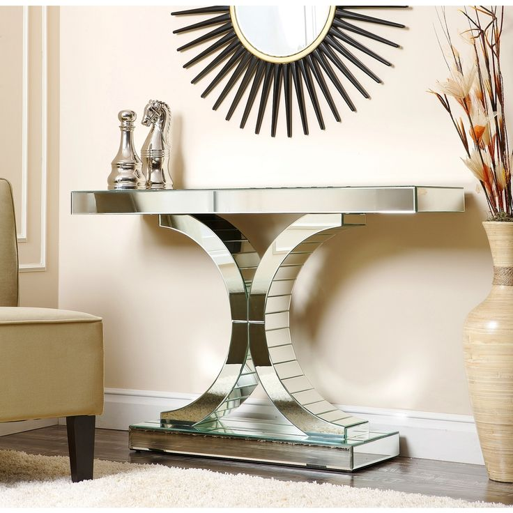 Add some exotic decor to your home with this dazzling empire mirrored console table home - Mirrored console table overstock ...