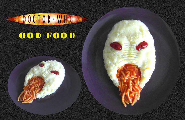 Doctor Who - Gross!  Ood Food by mikedaws on deviantART (no recipe just inspiration) #DoctorWhoParty