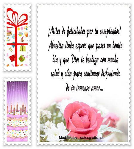 textos de feliz cumpleaños para enviar,textos de cumpleaños para enviar por Whatsapp: http://www.datosgratis.net/mensajes-de-cumpleanos-para-mi-abuela/