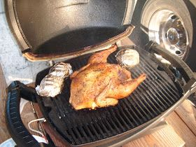 Cooking on my Weber Q-100 and other recipes: Whole Chicken on our Q