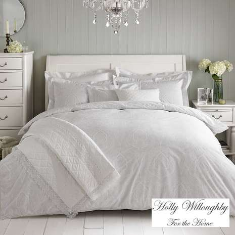 Holly Willoughby Paisley White Bed Linen collection for Dunelm