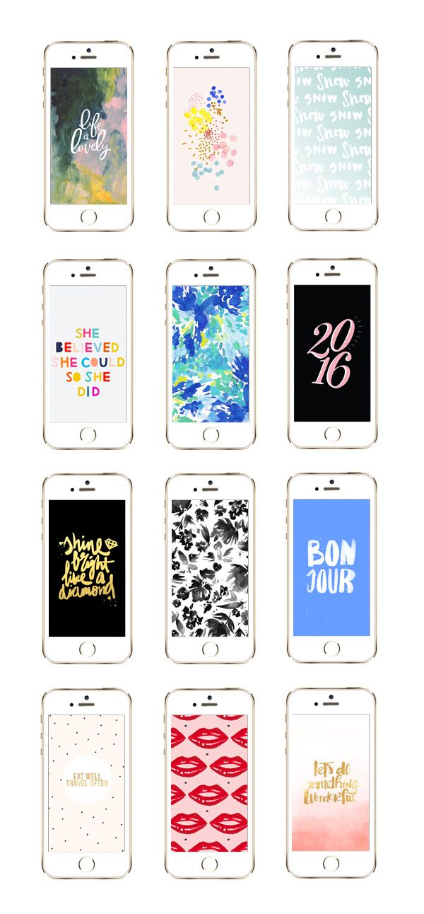 Check out 12 awesome iPhone wallpaper designs for winter and beyond at The Sweetest Occasion