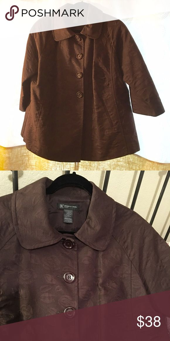 Inc brown jacket plus size This was one of my favorite jackets from Macy's INC International Concepts Jackets & Coats
