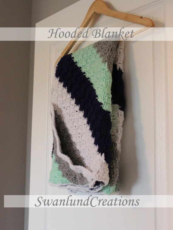 Check out this item in my Etsy shop https://www.etsy.com/ca/listing/452993632/grey-white-mint-and-navy-hooded-baby