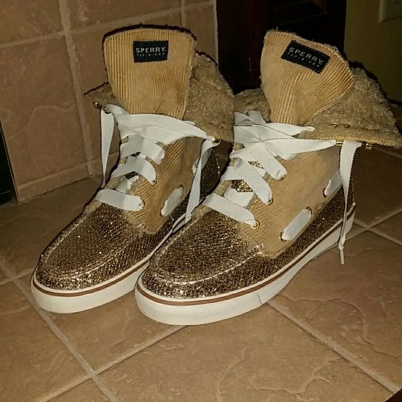 Selling this Sparkle High Top Sperry Top-Sider in my Poshmark closet! My username is: leanne_wills. #shopmycloset #poshmark #fashion #shopping #style #forsale #Sperry Top-Sider #Shoes