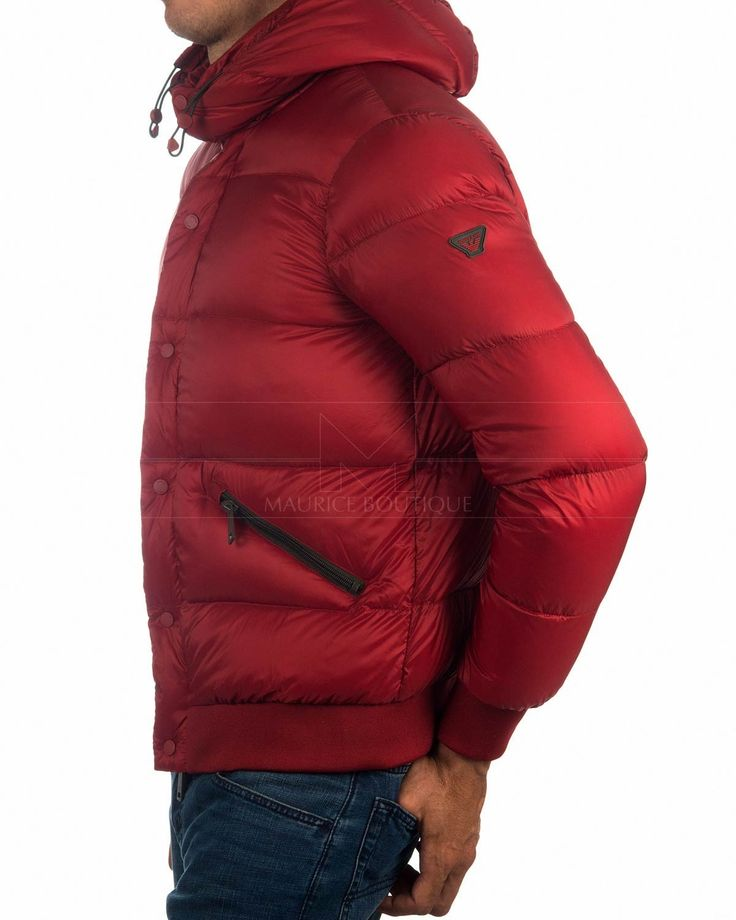 Red ✶ ARMANI JEANS © mens Down Jacket | BEST PRICE