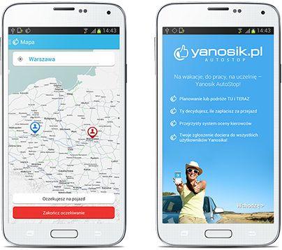 Aplikacja dla autostopowiczów yanosik AutoStop. Czy pokona Blablacar?