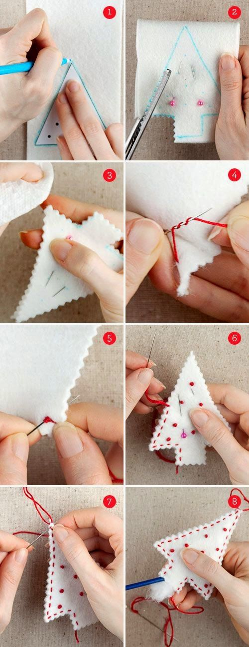 10 DIY felt Christmas Ornaments | Christmas Special