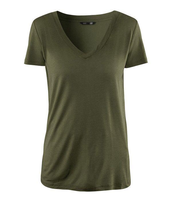 Summer Army Women V Neck T Shirt Solid Slim American Apparel Harajuku Tumblr Style Ladies T-Shirt Camiseta