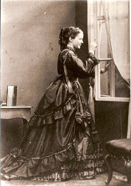 Queen Elisabeth of Romania nee Pss of Wied. She was also known as Carmen Sylva.  Early 1870s.