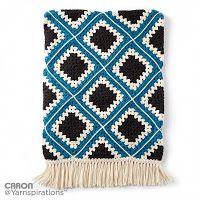 Tina's handicraft : Diamond Crochet Granny Afghan