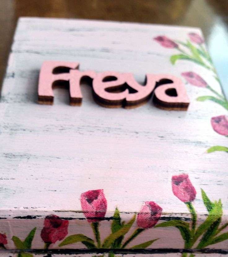 Handmade wooden personalised gift box shabby chic flowers pink, made to order by Stylishmoments on Etsy