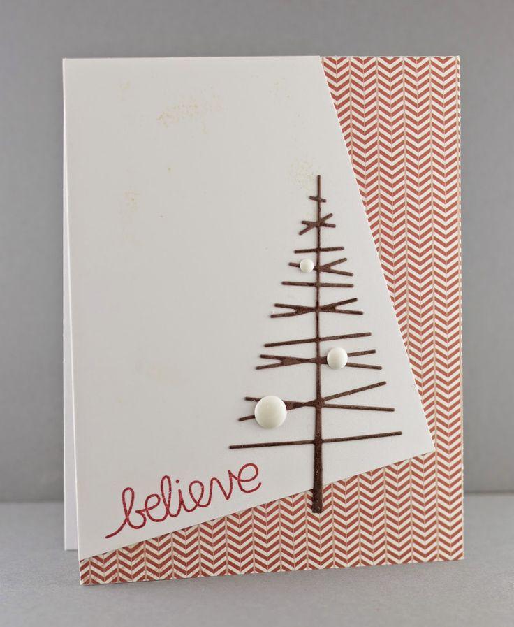 Крафт открытки своими руками новогодние, оленька