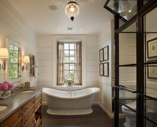 amazing looks of these farmhouse bathroom interiors that we have featured today in our collection of 25 Beautiful Farmhouse Bathroom Designs For Inspiration.