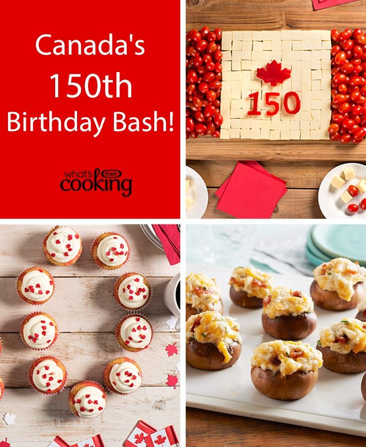 Canada's 150th Birthday Bash! #recipes