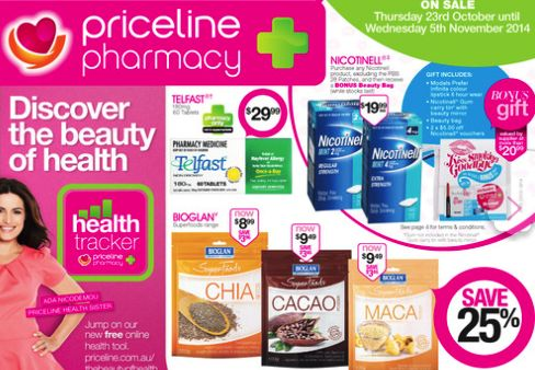 Deal: Priceline Catalogue Offers Starting Today - 50% Off On Blackmores, 30% Off Toni & Guy, Free Gift Offers & More  Priceline Pharmacy - Oct 23, 2014
