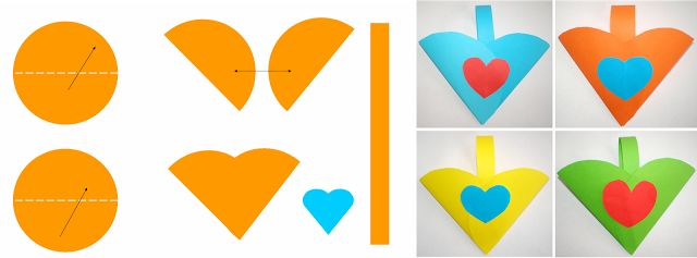 Materiale didactice de 10(zece): Coşuleţ în formă de inimă