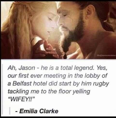 Jason Momoa and Emilia Clarke - Game of Thrones