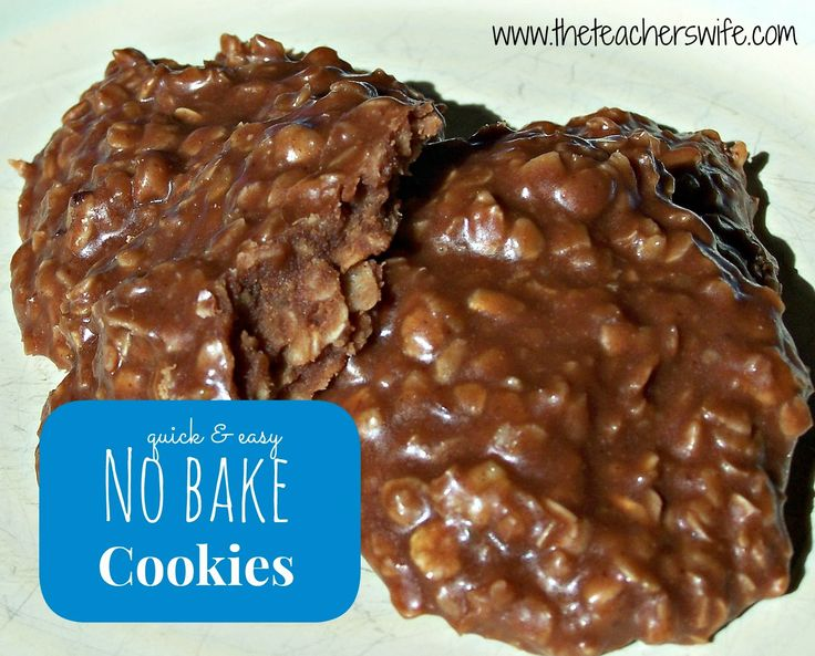 No Bake Cookies.  Need a quick and easy cookie recipe that will still please the crowd?  This simple recipe combines basic baking staple items and can be made in no time at all.
