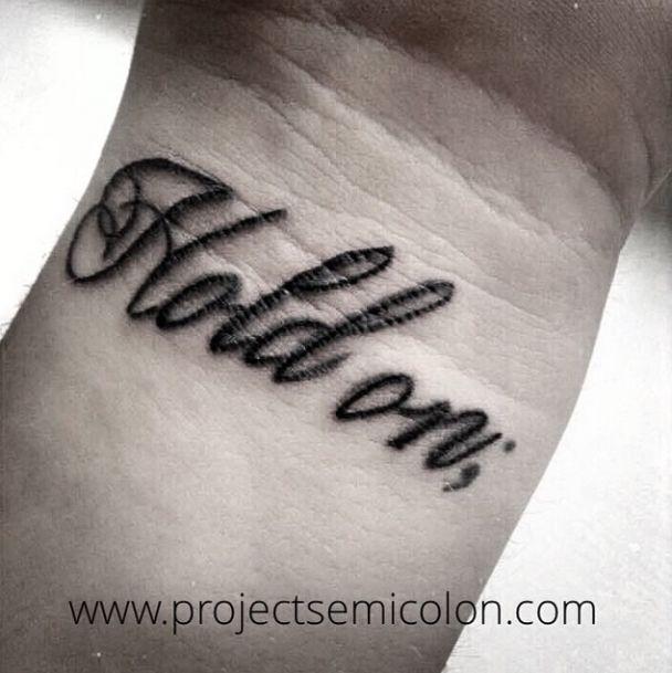 Hold on semicolon tattoo