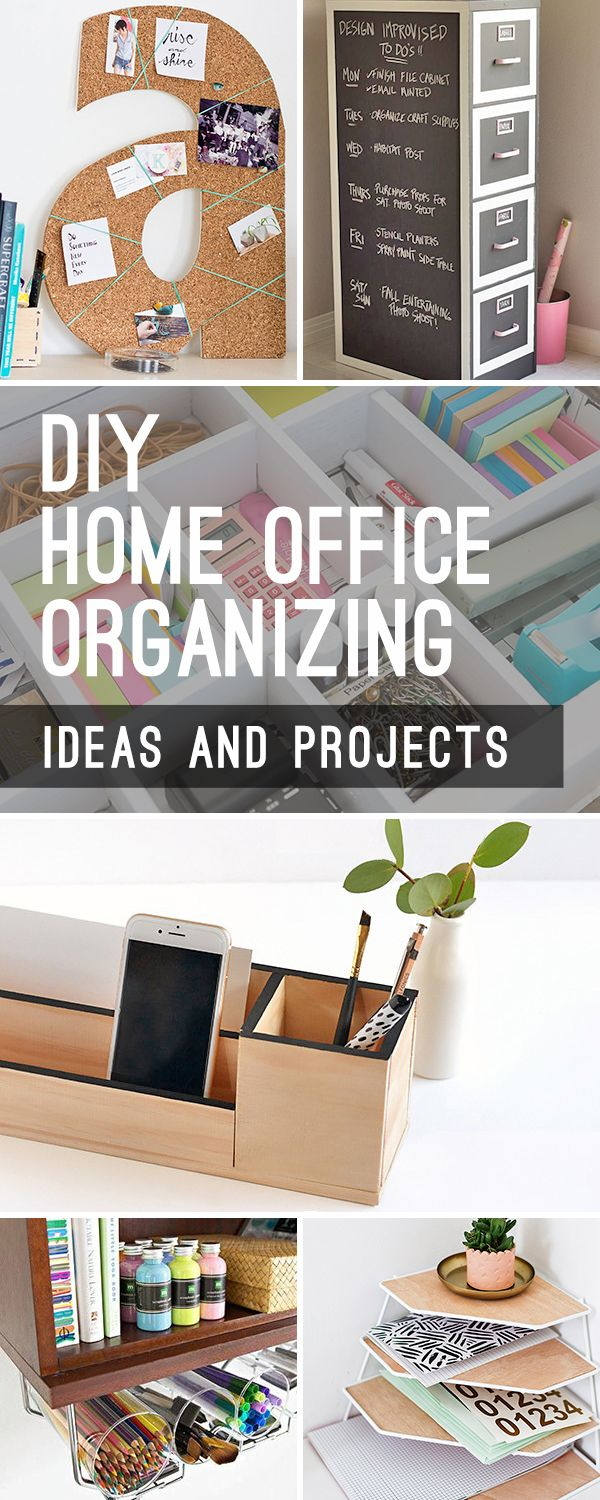DIY Home Office Organizing Ideas! • Check out these calendars, desk organizers, makeovers and other home office projects, ideas and tutorials! #homeofficeorganizing #DIYhomeofficeorganizing #DIY #DIYhomedecor #homeofficeorganization #DIYhomeofficeorganization