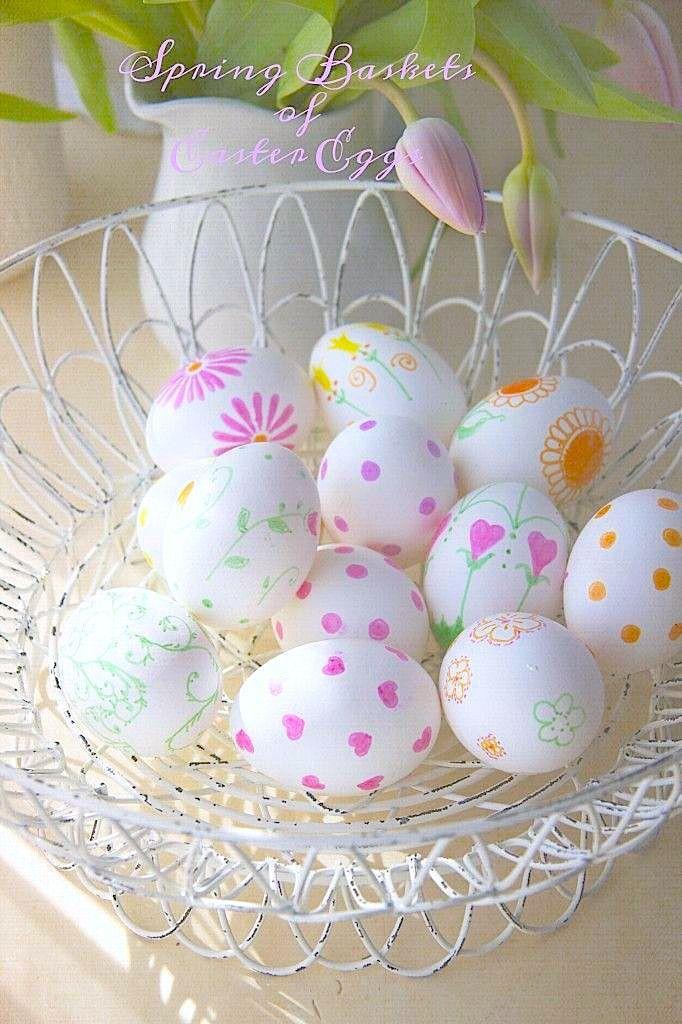 Easter decor DIY #sharpie_eggs