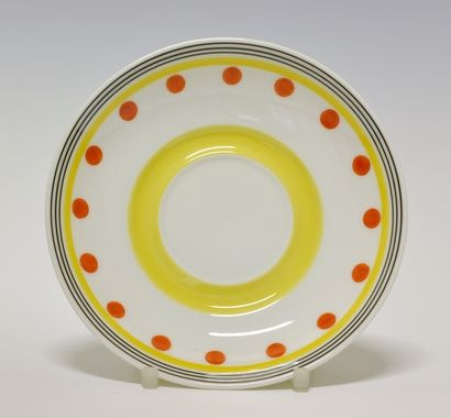 Coffee saucer. Designed by Nora Gulbrandsen. 1935 Prototype. Source:  DigitaltMuseum