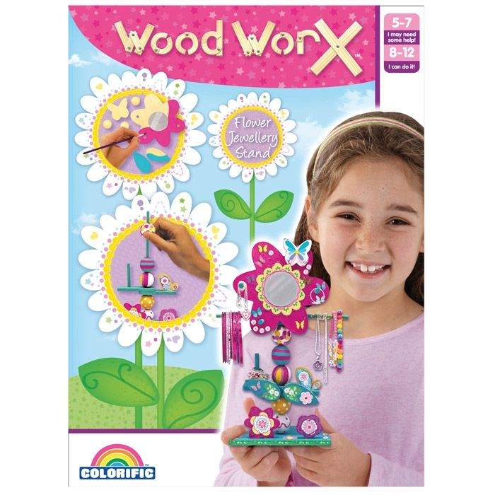 Build, paint and decorate an adorable flower jewellery stand! Woodworx Flower Jewellery Stand Kit.