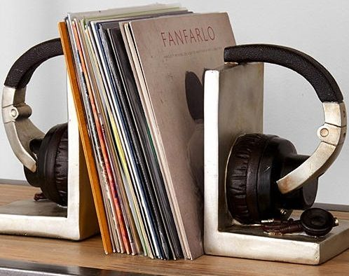Awesome Book Ends For Record Collection Bookends Cool Gadgets