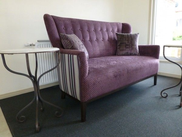 Feature 2 Seater Sofa with Buttoned Backrest