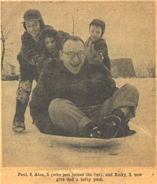 Borsuk family, 1956  This image of the Borsuks along with six other photographs by Ed Stein appeared in the Wisconsin State Journal, January 21, 1956.