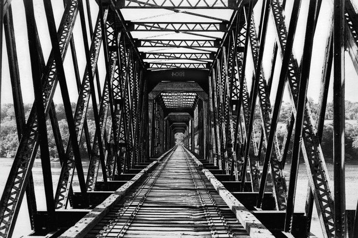 Industrial Art Photography Iron Railroad Bridge