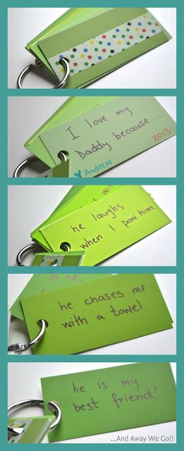 Father's Day Craft I love My Daddy Because Keychain (cute toddler answers encouraged)