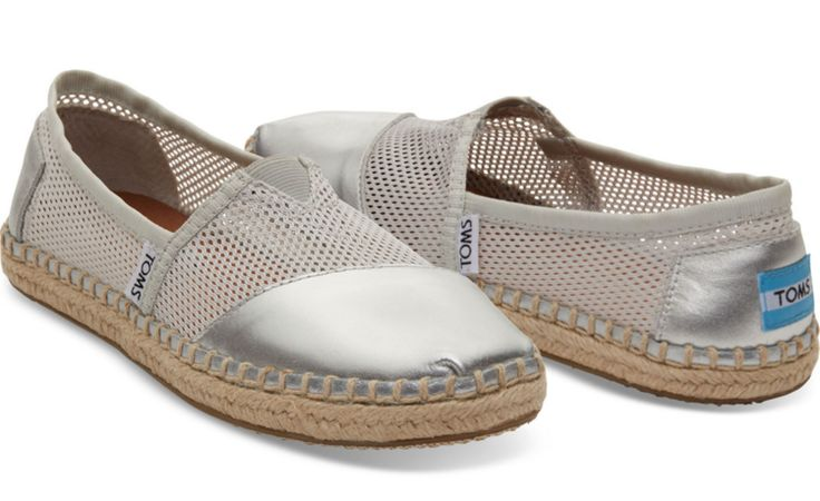 soi 55 silver fashion finds Toms silver espadrilles