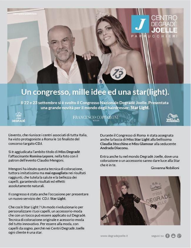 CDJ, Claudio Mengoni e Miss Degradé 2014 e STARLIGHT per Amica di novembre 2014!!! Da lunedi in edicola!!!  #cdj #degradejoelle #rivista #siparladinoi #claudiomengoni #starlight