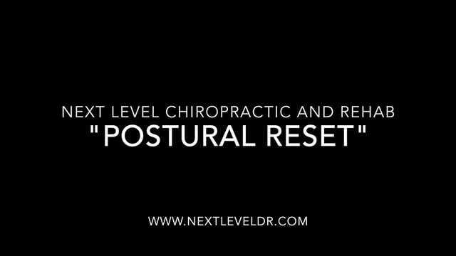 "Dr. Sam Sneed reviews the ""POSTURAL RESET"" exercise."