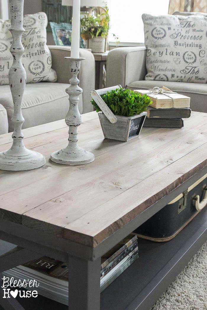 Barn Wood Top Coffee Table | Diy table, Tops and House