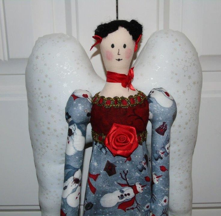 """A little closer look at my Winter Angel from Tilda book """"Sew Pretty Christmas Homestyle"""""""
