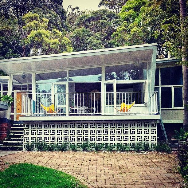 Instagram photo of Midcentury Neutura-influenced Atomic Age small glass faced small home by @Louise Cote Cote Cote Cote Cote Bell (Louise Bell)